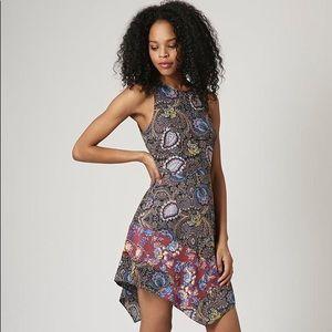 Topshop Paisley Hankey Hem Dress
